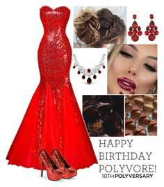 """""""Happy 10th Polyversary!"""" by annacastrolima ❤ liked on Polyvore featuring GET LOST, Dolce&Gabbana, Bling Jewelry, polyversary, contestentry, redglitter and redandglitter"""
