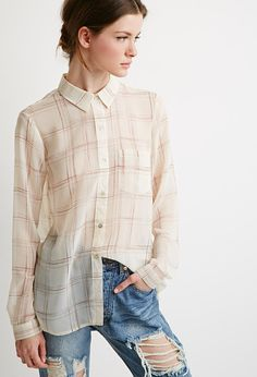 Abstract Plaid Print Shirt | Forever 21 - 2000112165