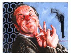 Jack Nicholson by Roni Kane