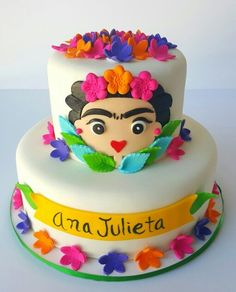 Frida Kahlo Cake Pastel Cakes by Yasmin Mexican Birthday, 30 Birthday Cake, Mexican Party, Cake Decorating Equipment, Cake Decorating Tools, Fondant Cakes, Cupcake Cakes, Frida Kahlo Birthday, Fiesta Theme Party