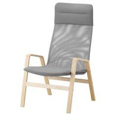 NOLBYN Sillón con respaldo alto - chapa abedul/gris - IKEA