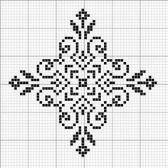 SNOWFLAKE PATTERN - cross stitch (no other info)