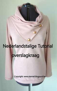 Tutorial kraag / tutorial foldover collar http://stannel.blogspot.be/2015/12/tutorial-stannel-kraag-nederlandstalig.html