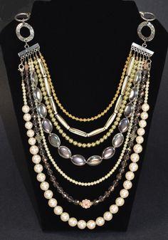 Rita D multi strand necklace ...
