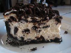 Copycat Cheesecake Factory Oreo Cheesecake - to die for! Cheesecake Factory Oreo Cheesecake, Oreo Cheesecake Recipes, Cookie Recipes, Dessert Recipes, Raspberry Cheesecake, Red Velvet Cheesecake, Pumpkin Cheesecake, Just Desserts, Delicious Desserts