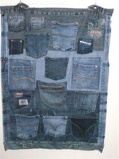 wandzak van spijkerbroek zakken