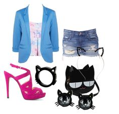 """""""MEOW"""" by brooklynn-f-farsee ❤ liked on Polyvore featuring MANGO and Betsey Johnson"""