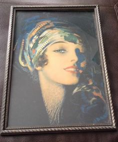 1900's Art Deco Signed Rolf Armstrong Large Pin Up Print in Original Frame | eBay