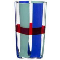 Almor Carlo Moretti Contemporary Mouth Blown Murano Glass Vase 1