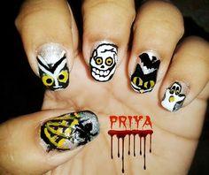 DIY halloween nails: DIY Halloween nail art : halloween special