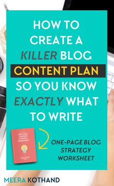 Are you always struggling to find blog post ideas? That's a tell tale sign you need a blog content plan. In this post you'll get 9 steps to formulate your own content strategy using the 1-page blog content planner template. // Meera Kothand