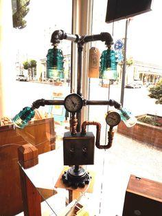 Castaway Creations insulator lamp.