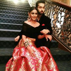 Fashion trends set from Ishqbaaz show with Anika, Gauri, Tia showing high state of fashion outfits dresses in both series. Indian Wedding Outfits, Indian Outfits, Wedding Dress, Indian Attire, Indian Wear, Saris, Lehnga Dress, Lehenga Designs, Indian Designer Wear