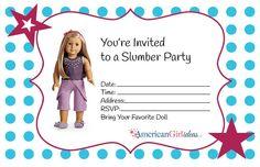 American girl birthday party invitations free printables american american girl birthday party invitations free printables stopboris Choice Image