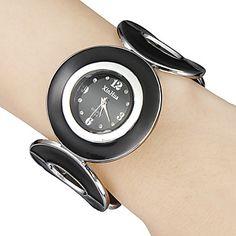 Damen+Armband-Uhr+Quartz+Band+Armreif+Schwarz+Schwarz+–+EUR+€+6.71 Watches Online, Cool Watches, Fashion Watches, Band Rings, Bracelet Watch, Quartz, Bracelets, Unique, Stuff To Buy