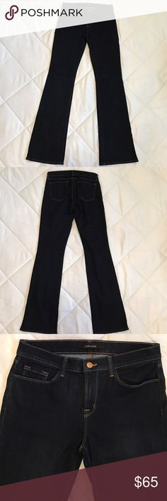 """J Brand Indigo Jeans Cute J Brand Starless flare style, dark wash indigo jeans. In excellent New condition. Never been worn no tags. 32"""" inseam. No trades. Reasonable offers accepted. 😊 J Brand Jeans Flare & Wide Leg"""