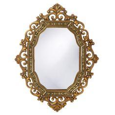 "Howard Elliott Ariana Gold Mirror 30"" x 40"" x 2"""