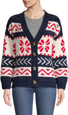 Stellah V-Neck Intarsia Cardigan Forever21, V Neck, Sweaters, Fashion, Moda, La Mode, Sweater, Fasion