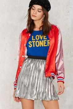 Foiling Point Metallic Skirt | Shop Clothes at Nasty Gal!