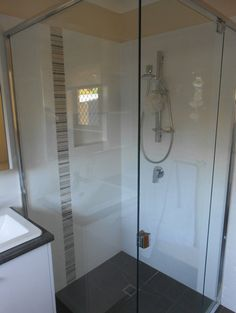 New shower with the semi frame less shower screens Shower Screens, Bathroom Renovations, Sweet Home, Bathtub, Frame, Wall, Standing Bath, Picture Frame, House Beautiful