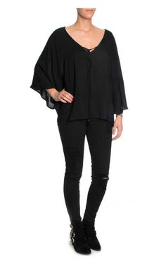 Topp Silky Lace Wing BLACK - FAV - Designers - Raglady
