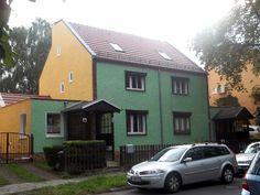 urban settlement, Paul-König-Strasse, Hohenschönhausen, Berlin  Bruno-Taut-Siedlung