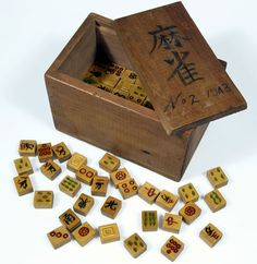 Handmade Mah Jong set made by Japanese prisoners of war during World War II