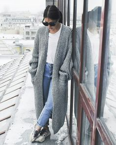 long knit coats, knitting, sweaters
