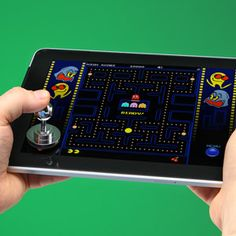Tired of using the shoddy controls of your tablet? Get the Joystick-it iPad Arcade Stick from ThinkGeek.com and enhance your gaming precision! Works with anything that has a capacitive touchscreen. Man, if I had a tablet. <3