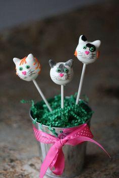 Cat+Cake+Pops | Cat cake pops! | Cakes