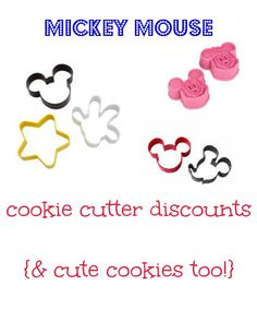 Mickey Mouse Cookie Cutter sale and cookie decorating ideas