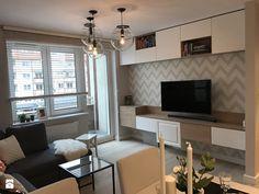 Metamorfoza mieszkania 47 m2 - Bamberski Dwór - Salon, styl nowoczesny - zdjęcie od Architektownia