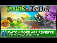 Plants vs Zombies iPhone App - Best iPhone App - App Reviews #iphone #android #apps