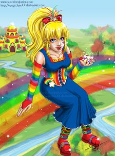 Here is the Rainbow Brite I promised awhile ago. I approached this piece differently than I have others, in that when I finish the main part of the image, I'm too lazy/fed up to seriously work on a. Victorian Costume, Renaissance Costume, Steampunk Costume, Rainbow Brite, The Past, Childhood, Teen, Kawaii, Animation