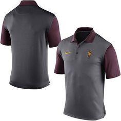 Arizona State Sun Devils Nike Dri-Fit Gray Preseason Polo Shirt