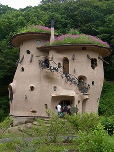 ムーミンの家 (sorry, can not translate to english ... but, is a cool house with a 'living' roof)