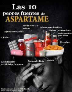 Las 10 Peores Fuente de Aspartame