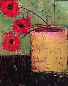 """""""Les Trois Fleurs Rouges""""- by Jacqui Fehl"""