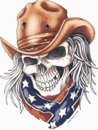 Custom Cowboy Skull and American Flag A Green Digital Camo long wallet