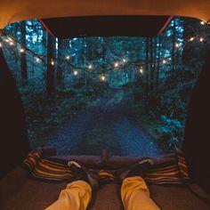 Car camping in Oregon.