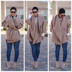 DIY Oversized Camel Jacket  & Pattern Review V8930