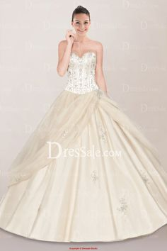 Graceful Sweetheart Side-draped Lace-up Back Quinceanera Dress with Embroidery, Quality Unique Quinceanera Dresses - Dressale.com