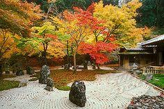 Zen temple, garden. Dazaifu. Kyushu island. Japan.