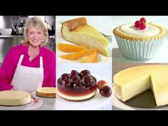 Martha Stewart Makes Cheesecake 4 Ways | Martha Bakes Classic Episodes - YouTube Martha Stewart Cheesecake, Martha Stewart Recipes, How To Make Cheesecake, Cheesecake Recipes, Lemon Cheesecake, Pie Recipes, Chocolate Chip Cheesecake Bars, Chocolate Chip Cookies, French Apple Cake