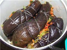 Баклажаны квашенные фаршированные фото рецепт