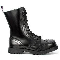 Black leather boots, with steel toe and screw reinforced lug sole. Made from high quality leather with triple stitch construction, Nevermind boots are handcrafted in Portugal. Steel toe Triple stitching Cushioned insole Handcrafted in Portugal Womens Leather Combat Boots, Leather Cap, Black Leather Boots, Brown Boots Outfit, Minimalist Shoes, Knee High Boots, Calf Boots, Fashion Boots, Men's Fashion