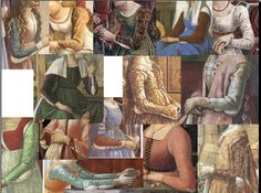 Different types of sleeves. Part of the research from Cathelina di Alessandri's reproduction 1480 wardrobe