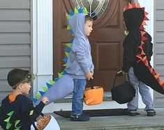 Toddler Dinosaur Dragon Hoodie Sweatshirt & Tail by KidHub on Etsy