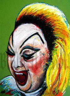 Print 8x10 Divine  John Waters Cult Trash Trashy Drag by chuckhodi, $10.00