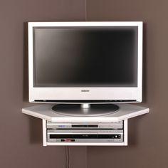 "Amazon.com - Creative Connectors Corner Floating Wall Shelf (White, 22"") - Corner Tv Mount With Shelf"